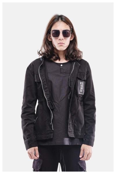 Muroq Twill Jacket BYOS - Black
