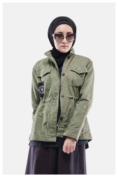 Muroq Twill Jacket FTD - Olive Green